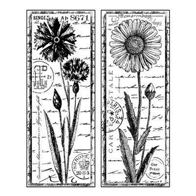 Cam Consumer Products, Inc. Crafty Individuals Unmounted Rubber Stamp Tall Wild Flowers