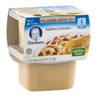 Gerber 2nd Foods Apples & Chicken - 2 CT