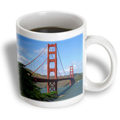 Recaro North 3dRose - Sandy Mertens California - Golden Gate Bridge San Francisco - 11 oz mug