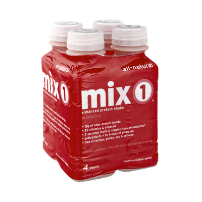 Mix 1 All Natural Mix Berry Enhanced Protein Shake - 4 PK