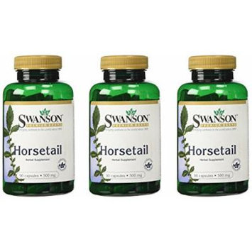 Horsetail (Natural Silica) 500 Mg 90 Caps (Pack of 3)