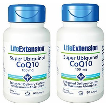 Life Extension Super Ubiquinol Coq10 100 Mg, 60 Count X 2