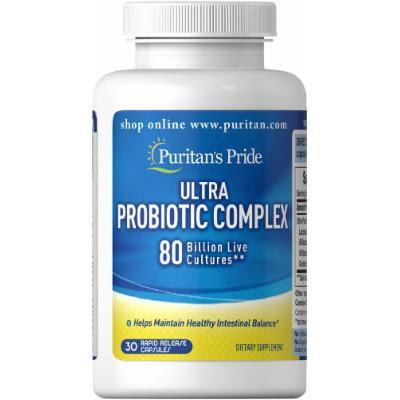 Puritan's Pride Ultra Probiotic Complex 80 Billion-30 Capsules