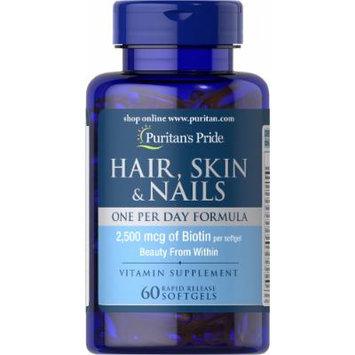 Puritan's Pride Hair, Skin & Nails One Per Day Formula-60 Softgels