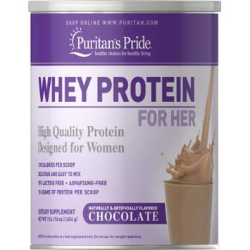 Puritan's Pride Whey Protein for Her Chocolate-1 lb Powder