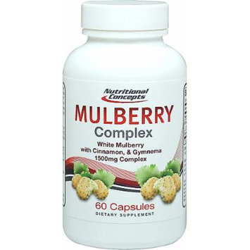 Nutritional Concepts White Mulberry Complex with Cinnamon & Gymnema-60 Capsules