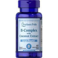 Puritan's Pride Vitamin B-Complex with Coconut Extract Quick Dissolve-60 Tablets