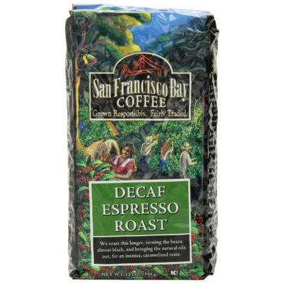 San Francisco Bay Coffee Whole Bean, Decaf Espresso Roast, 12 Ounce (Pack of 3)