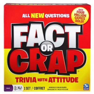 Spin Master Games Fact or Crap Ages 12+, 1 ea