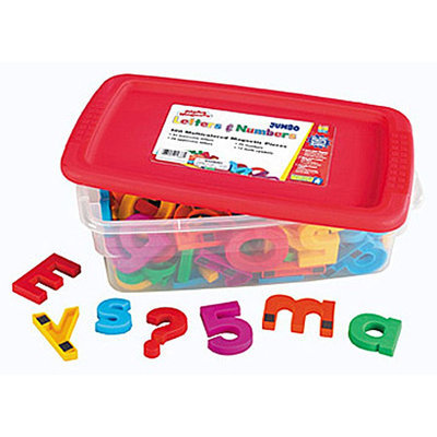 Educational Insights Jumbo AlphaMagnets and MathMagnets Combo Set (Multicolored)