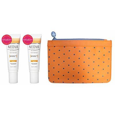 Neova DNA Damage Control Silc Sheer 2.0 SPF 40 (2.5 oz) 2 Pack + Cosmetic Bag