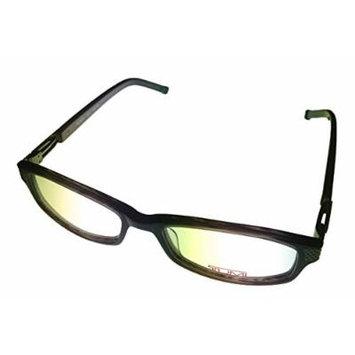 Tumi Rectangle Mens Black Plastic Eyewear Frame T301