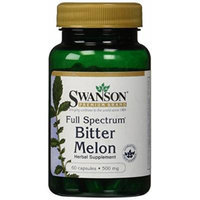 Swanson Premium Full-Spectrum Bitter Melon 500mg -- 2 Bottles each of 60 Capsules