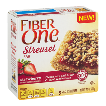 Fiber One Streusel Bar Strawberry