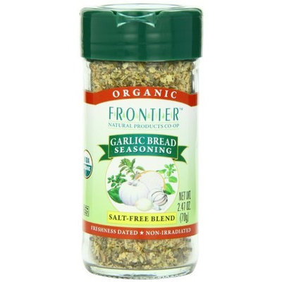 Frontier Organic Seasoning Blend, Garlic Bread, 2.47 Ounce