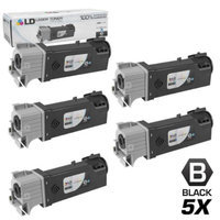 LD Compatible Replacement for Xerox 106R01597 Set of 5 High Yield Toner Cartridges Includes: 5 106R01597 Black for use in Phaser 6500 & WorkCentre 6508