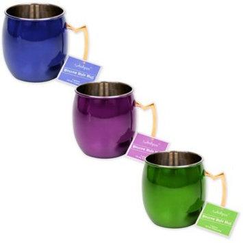 Jodhpuri Inc Colored Moscow Mule Mug Blue 16 oz