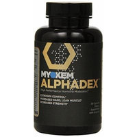 Myokem Alphadex, Anti-Estrogen/Testosterone Support to Eliminate the Soft Bloated Look Capsules, 56 Count