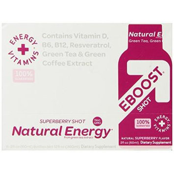 Eboost Nutritional Energy Shot, Superberry, 6 Count