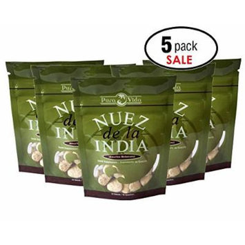 Nuez de la India + FREE Diet Guide eBook (5 packs of 12 Seeds/Semillas)- Authentic, Pure, Safe & Imported Fresh from the Amazon - Inspected & Packaged in an FDA Registered Facility - The Most Effective Nuez de la India on the Market