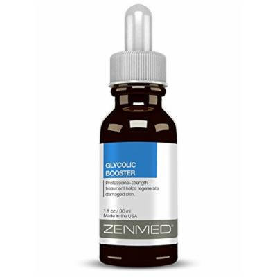 ZENMED Glycolic Acid Serum At Home Peel Lactic Hyaluronic Alpha Hydroxy 1oz