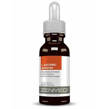 ZENMED L-Ascorbic Acid Booster Vitamin C Serum Pure Hyaluronic Acid Wrinkles 1oz