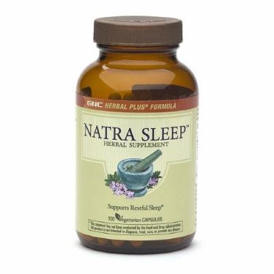 GNC Herbal Plus Natra Sleep, Vegetarian Capsules 100 ea