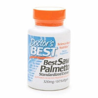 Doctor's Best Best Saw Palmetto Standardized Extract, 320mg, Softgels 60 ea