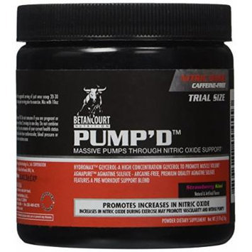 Betancourt Nutrition Pump'd Pre-Workout Supplement, Strawberry Kiwi, 56 Gram