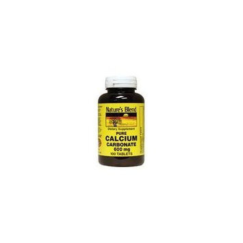 Nature`s Blend Calcium Carbonate 600mg Tablets 100 ct (pack of 2)