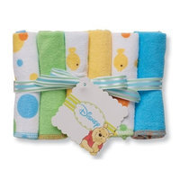 Disney Pooh 6 Pack Washcloth, Pink (Discontinued by Manufacturer)