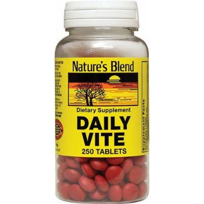 Nature`s Blend Daily Vite Tablets 250 CT (PACK OF 2)
