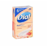 Dial Nutri Skin White Peach & Shea Butter Glycerin Bars, 6 - 3.2 Oz Bars