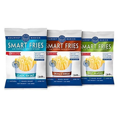 Gourmet Basics Smart Fries 3-Flavor Variety Pak, 1-Ounce Bags (Pack of 24)
