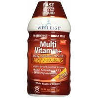 Wellesse Multivitamin Fast Absorbing, Complete B-Complex,Tangy New Citrus Flavor, 16 OZ (PACK OF 3)