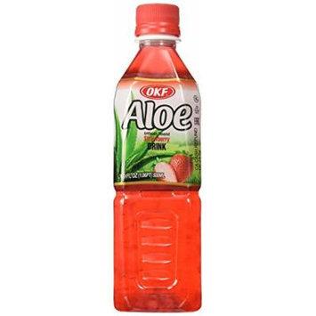 OKF Strawberry Aloe Drink, 16.9 Ounce (Pack of 20)