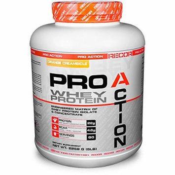 Reaction Nutrition Recor Pro Action Whey Protein, Orange Creamsicle, 5 Pound