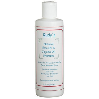Rudy's Emu Oil And Jojoba Oil Shampoo, 8-Ounce Bottle