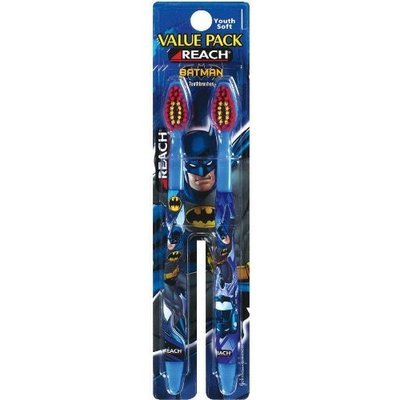 Reach Batman Toothbrush, Soft, Value Pack, 2 Count (Pack of 6)