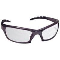 SAS Safety SAS542-0300 Gtr Safety Gls Charcoal Frame- Clear Lens