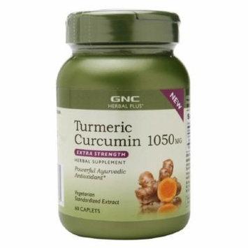 GNC Herbal Plus Turmeric Curcumin 1050mg, Extra Strength, Caplets 60 ea