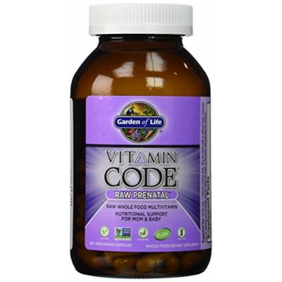 Garden of Life Vitamin Code Raw Prenatal Multivitamin, 180 Capsules (2 Pack)