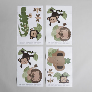 Little Bedding By Nojo Little Bedding by NoJo Infant and Toddler Jungle Critter Wall Decals - CROWN CRAFTS INFANT PRODUCTS, INC.