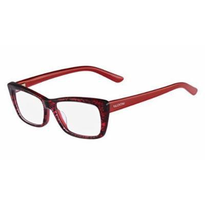 Valentino VL 2664 615 Red Lace Plastic Eyeglasses