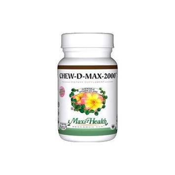 Maxi Health Chew D Max (Vitamin D3) 2000 IU Chewable Bubble Gum Flavor - 200 Tablets