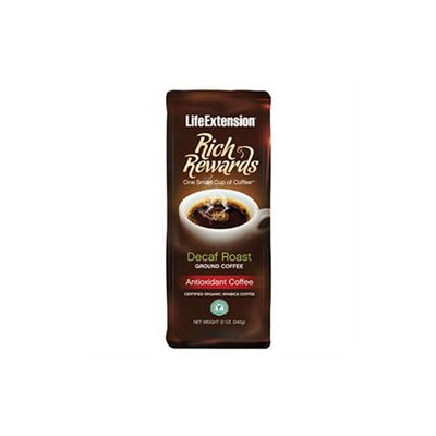 Life Extension Rich Rewards Decaf Roast Ground Coffee