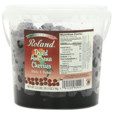 Roland Dried Amarena Cherries in Syrup, 35.3-Ounce Pail