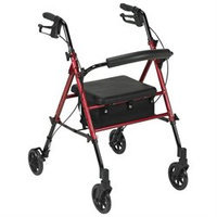 Drive Medical Adjustable Height Rollator with 6