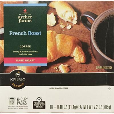 18 K-Cup Archer Farms Keurig Brewed Coffee French Roast, Dark Roast, One - 7.2oz Box