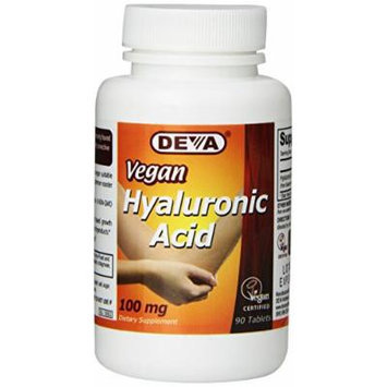 Deva Nutrition Vegan Hyaluronic Acid Tablets, 100 mg, 90 Count